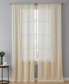 Lumino Adelaide Macrame Sheer Voile Rod Pocket Curtain Panels - 54 W x 96 L - Set of 2