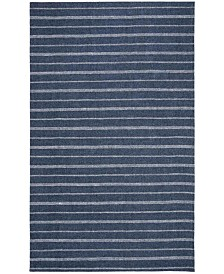 Miles Stripe LRL6400D Navy Area Rug Collection