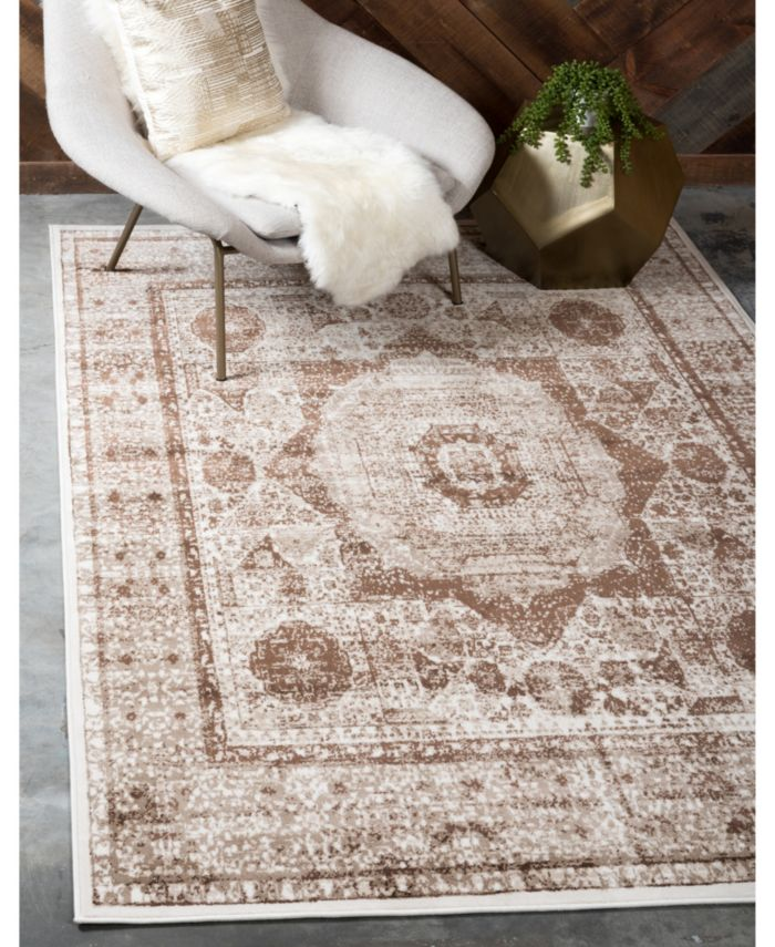 Bridgeport Home Linport Lin7 Brown Area Rug Collection & Reviews - Rugs - Macy's