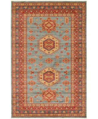 Harik Har1 Light Blue 4' x 4' Square Area Rug