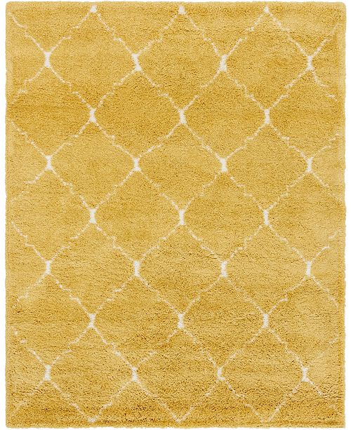 Bridgeport Home Fazil Shag Faz5 Yellow Area Rug Collection