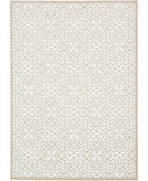 Bridgeport Home Marshall Mar5 Snow White Area Rug Collection