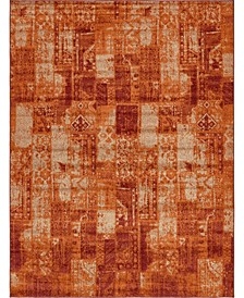 Jasia Jas07 Terracotta Area Rug Collection