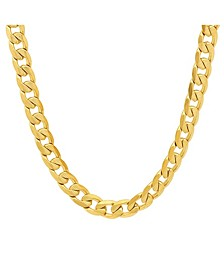 "Men's 18k gold Plated Stainless Steel Accented 10mm Figaro Chain 24"" Necklaces"