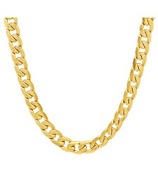 "Steeltime Men's 18k gold Plated Stainless Steel Accented 10mm Figaro Chain 24"" Necklaces"