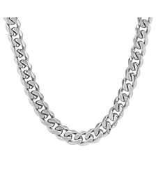 Men's Stainless Steel Thick Accented Cuban Link Style Chain Necklaces