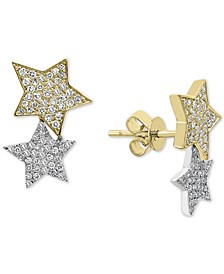 EFFY® Diamond Stars Stud Earrings (1/2 ct. t.w.) in 14k Gold & White Gold