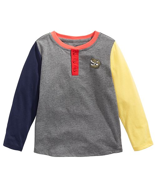 Epic Threads Toddler Boys Colorblocked Dinosaur-Print T-Shirt, Created For Macy's