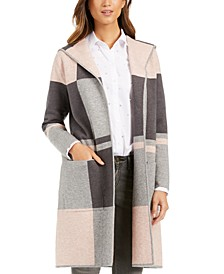 Colorblocked Hooded Coatigan, Created For Macy's