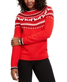 Petite Fair-Isle Crewneck Sweater, Created for Macy's