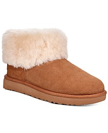 Women's Classic Mini Fluff Booties
