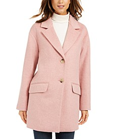 Petite Button-Front Coat, Created For Macy's