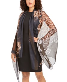 Cejon Opposites Attract Floral Oversized Scarf