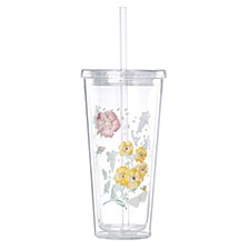 Butterfly Meadow Tumbler with Straw, Macy's Exclusive