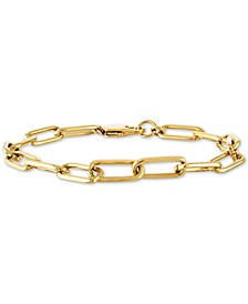 Large Cable Link Bracelet in Gold-Tone Ion-Plated Stainless Steel, Created For Macy's
