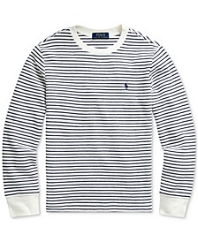 Big Boys Waffle Knit Stripe Sweatshirt, Created For Macy's