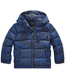 Polo Ralph Lauren Toddler Boys Riptop French Navy Camo Jacket, Created for Macy's
