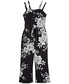 Big Girls Floral-Print Jumpsuit