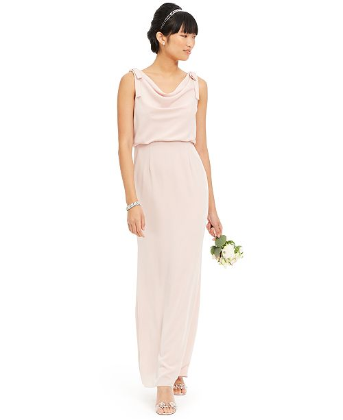 Adrianna Papell Blouson Cowlneck Gown