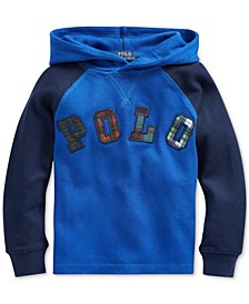 Toddler Boys Knit Waffle Hooded Thermal