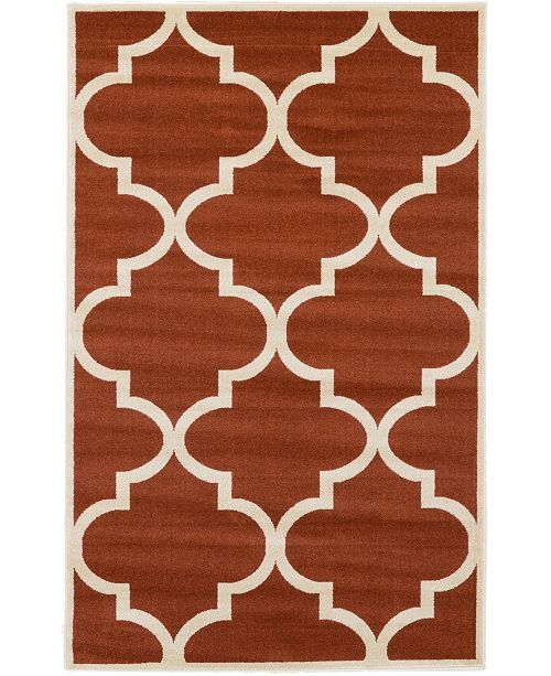 Bridgeport Home Arbor Arb3 Rust Red Area Rug Collection