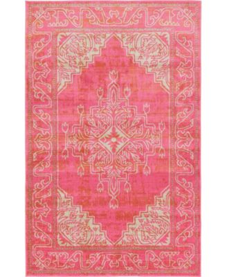 Aroa Aro8 Pink 6' x 6' Round Area Rug