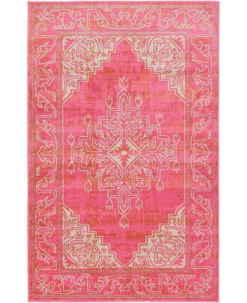 Bridgeport Home Aroa Aro8 Pink Area Rug Collection