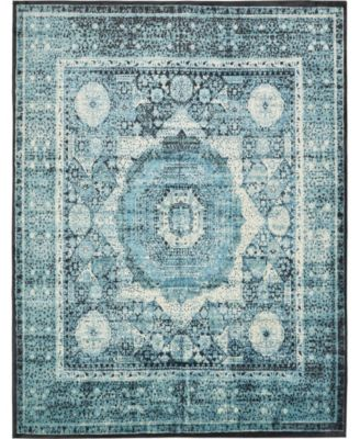 Linport Lin7 Turquoise 4' x 6' Area Rug