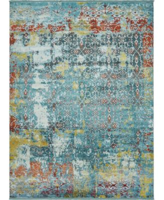 Kenna Ken8 Teal 10' x 13' Area Rug