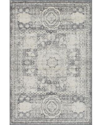 Mobley Mob2 Light Gray 2' x 13' Runner Area Rug