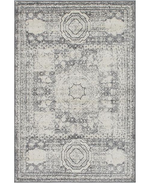 Bridgeport Home Mobley Mob2 Light Gray Area Rug Collection