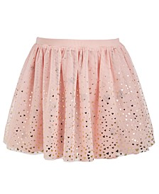 Little Girls Reversible Metallic-Heart Skirt, Created For Macy's