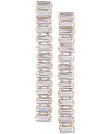Baguette-Crystal Linear Drop Earrings