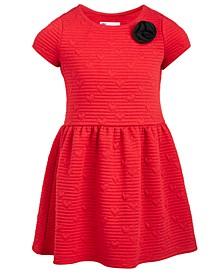 Little Girls Heart-Embossed Sweater Dress, Created For Macy's