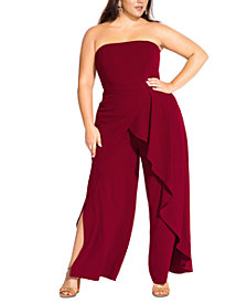 City Chic Trendy Plus Size Attraction Jumpsuit