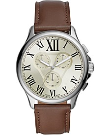 Men's Chronograph Monty Brown Leather Strap Watch 42mm
