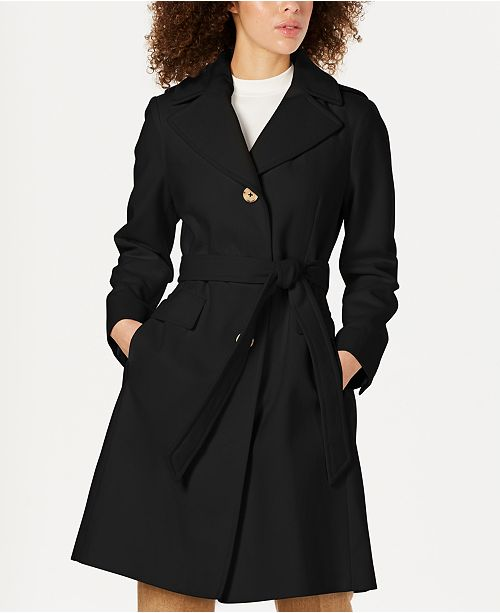 Michael Kors Single-Breasted Hooded Coat