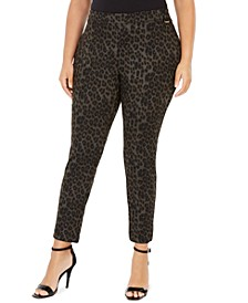 Plus Size Leopard-Print Leggings