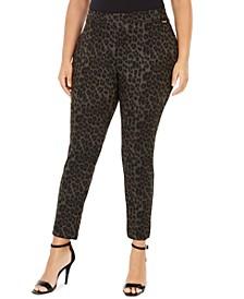 Plus Size Leopard-Print Leggings