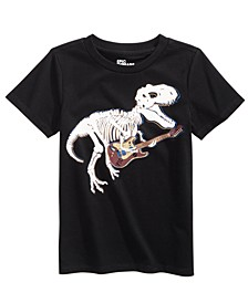 Little Boys Skeleton Dino T-Shirt, Created For Macy's