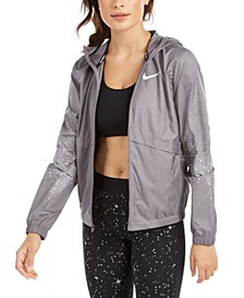 Women's Essential Water-Repellent Hooded Running Jacket