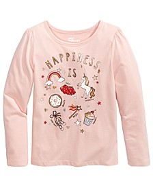 Toddler Girls Glitter Happiness T-Shirt, Created For Macy's