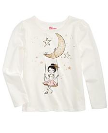 Little Girls Moon-Print T-Shirt, Created For Macy's