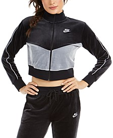 Women's Sportswear Velour Colorblocked Jacket