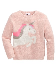 Toddler Girls Unicorn Fuzzy Sweater, Created For Macy's