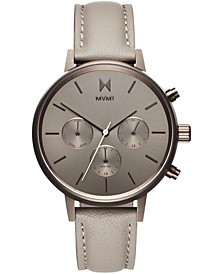 Women's Nova Lyra Taupe Leather Strap Watch 38mm