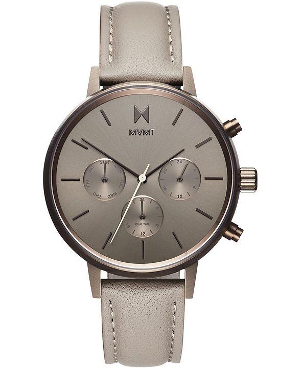 MVMT Women's Nova Lyra Taupe Leather Strap Watch 38mm