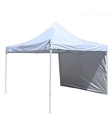 Easy Pop Up Outdoor Collapsible Gazebo Canopy Tent with Removable Wall Panel