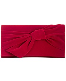 INC Bowah Hands Through Velvet Clutch, Created for Macy's