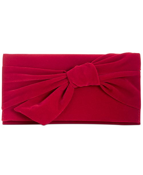 INC International Concepts INC Bowah Hands Through Velvet Clutch, Created for Macy's